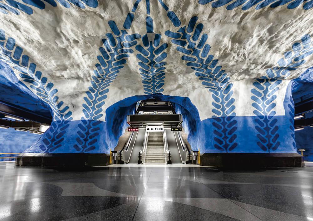 ストックホルムの地下鉄 ブルーライン T-Centralen駅(T‐セントラーレン・中央駅)