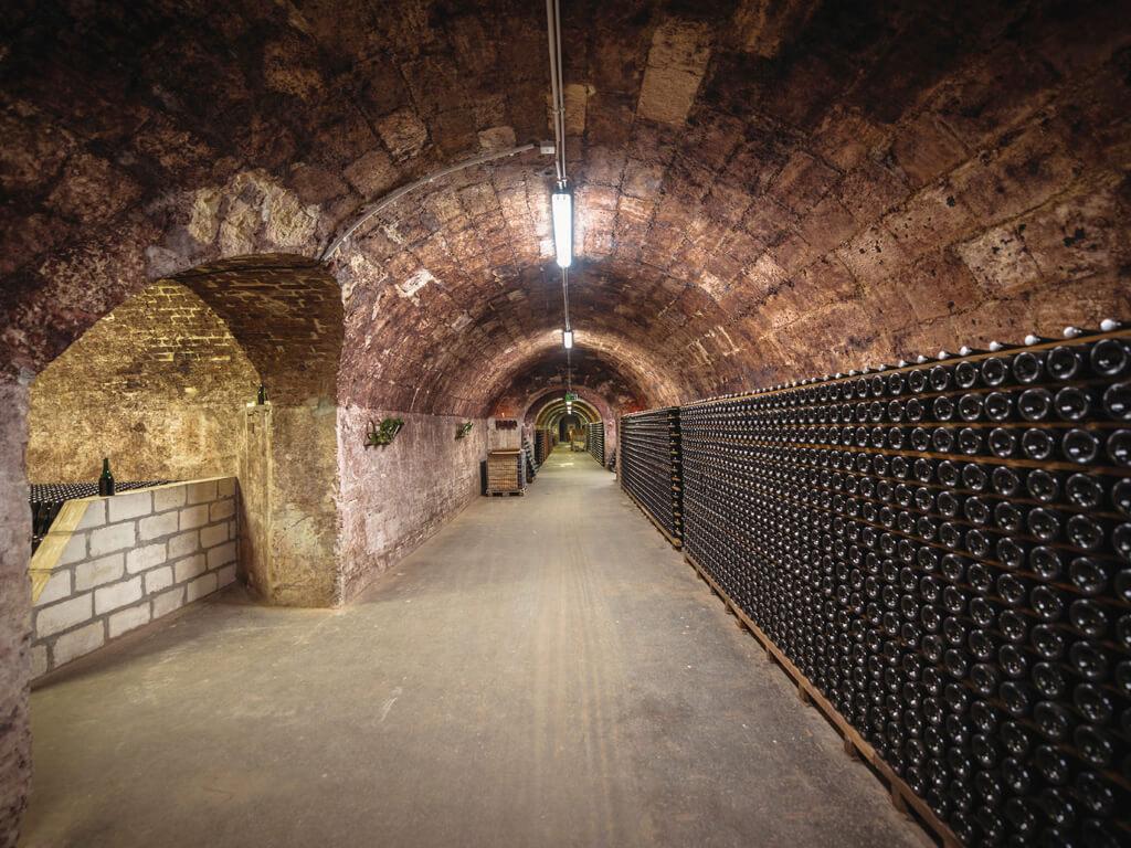シャンパーニュ地方 地下 ワインカーヴ フランス