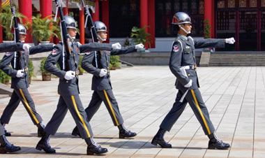 忠烈祠 衛兵 台北 台湾