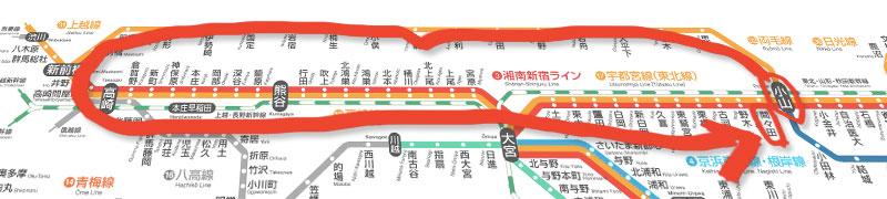 栃木発着大回り路線図