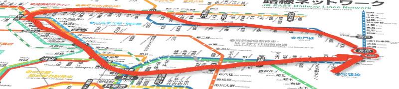 茨城発着大回り路線図
